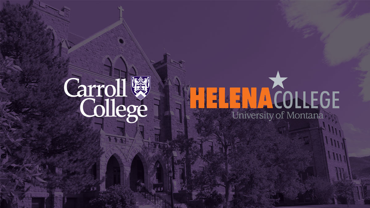 Carroll and Helena College Partnership graphic