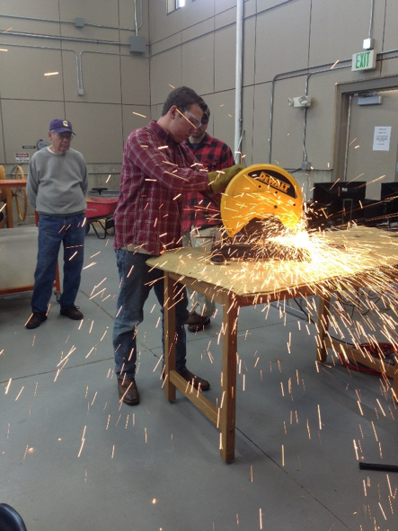Students working in the Carroll College Engineering Lab