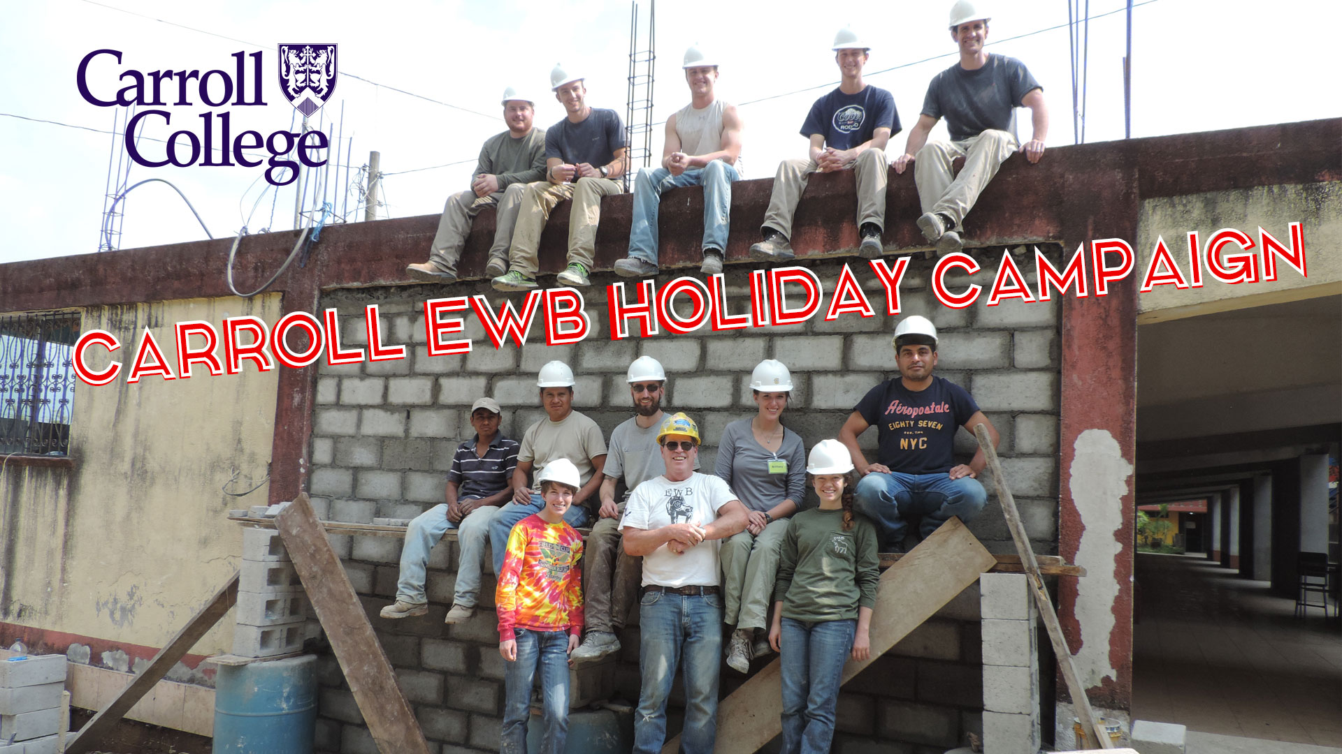 Graphic for Carroll EWB Holiday Campaign kick off