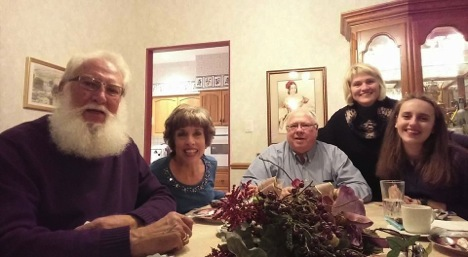 Anna Ivanova with her host family on Thanksgiving