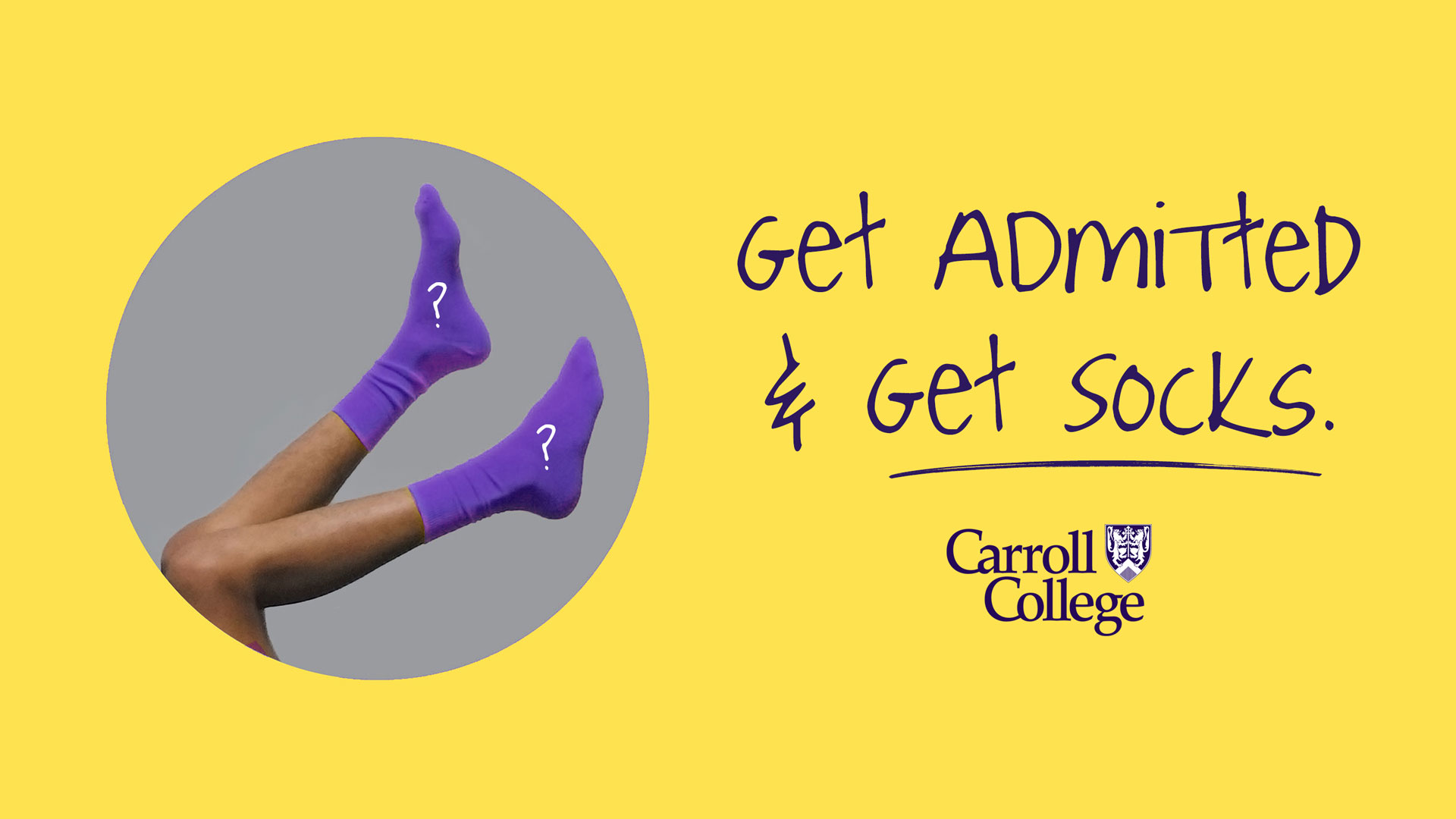 Get Admitted and Get Socks