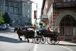 Horse and Carriage in downtown Helena
