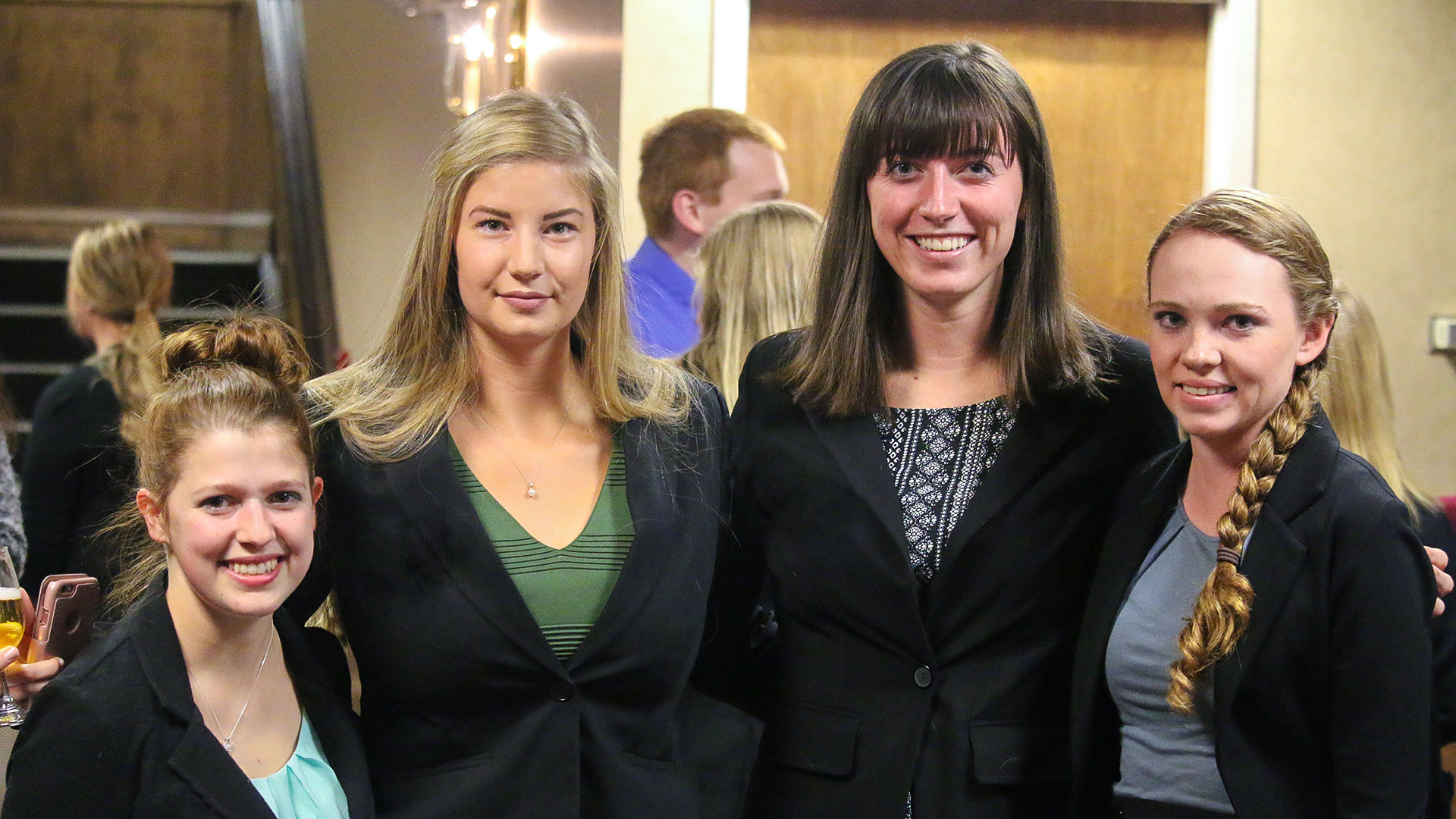 Business Administration - Four female Carroll students