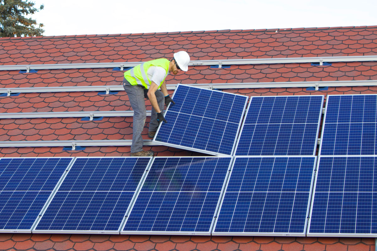 Photo of Solar Panel Installation