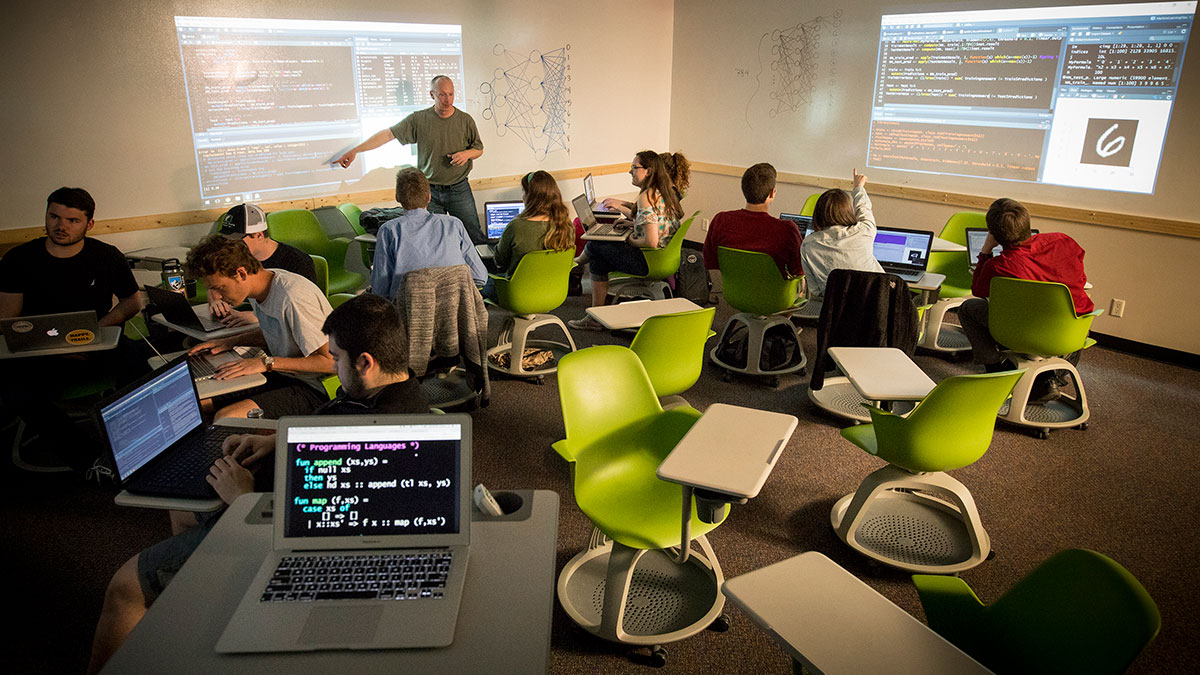 Data Science Students in a Computer Lab