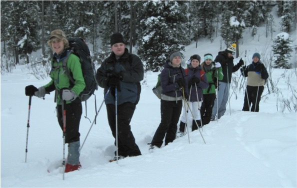 Skiing While Conducting Track Surveys in Yellowstone