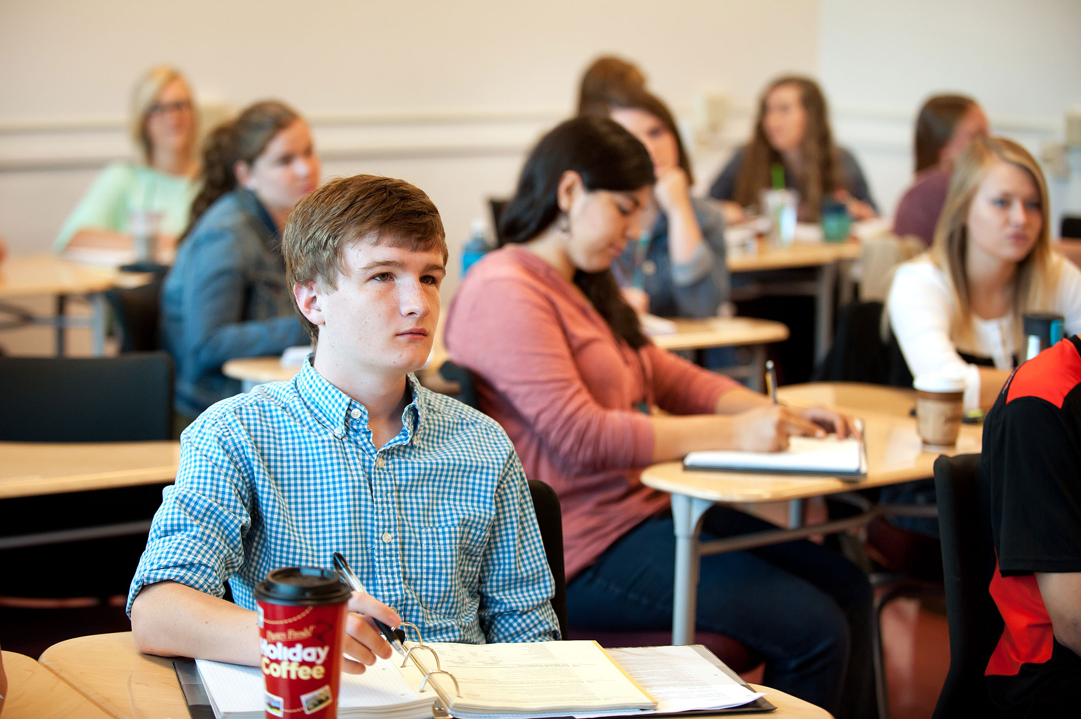 Image of Carroll College Students in class
