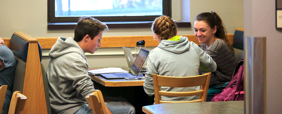 Students studying together as they prepare for mid-term exams.