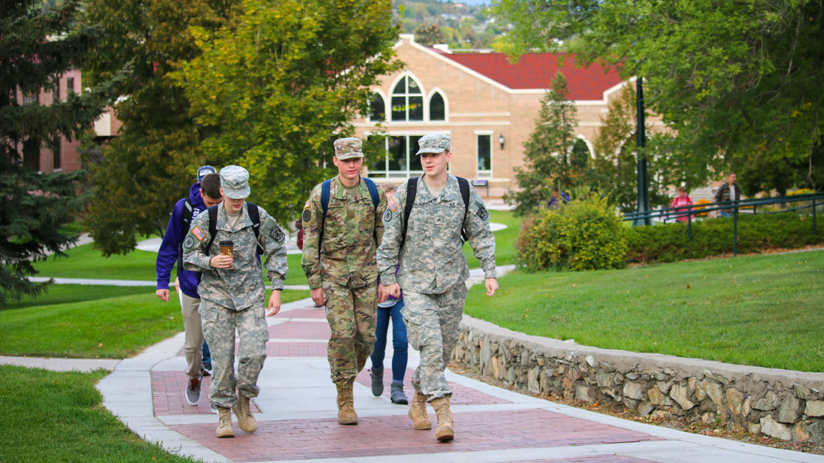 ROTC students on campus