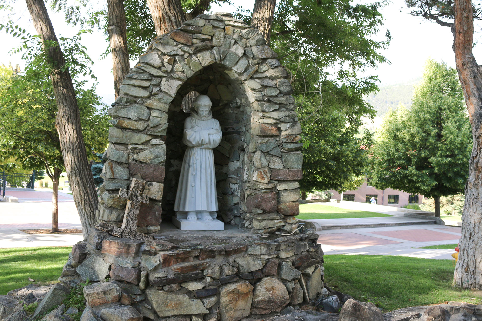 St. Francis Grotto on the Carroll College Campus