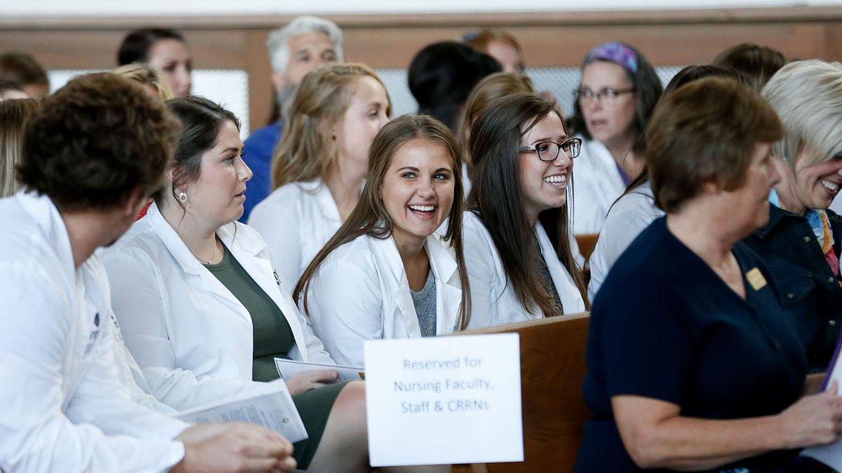 Nursing Students in the Chapel Image