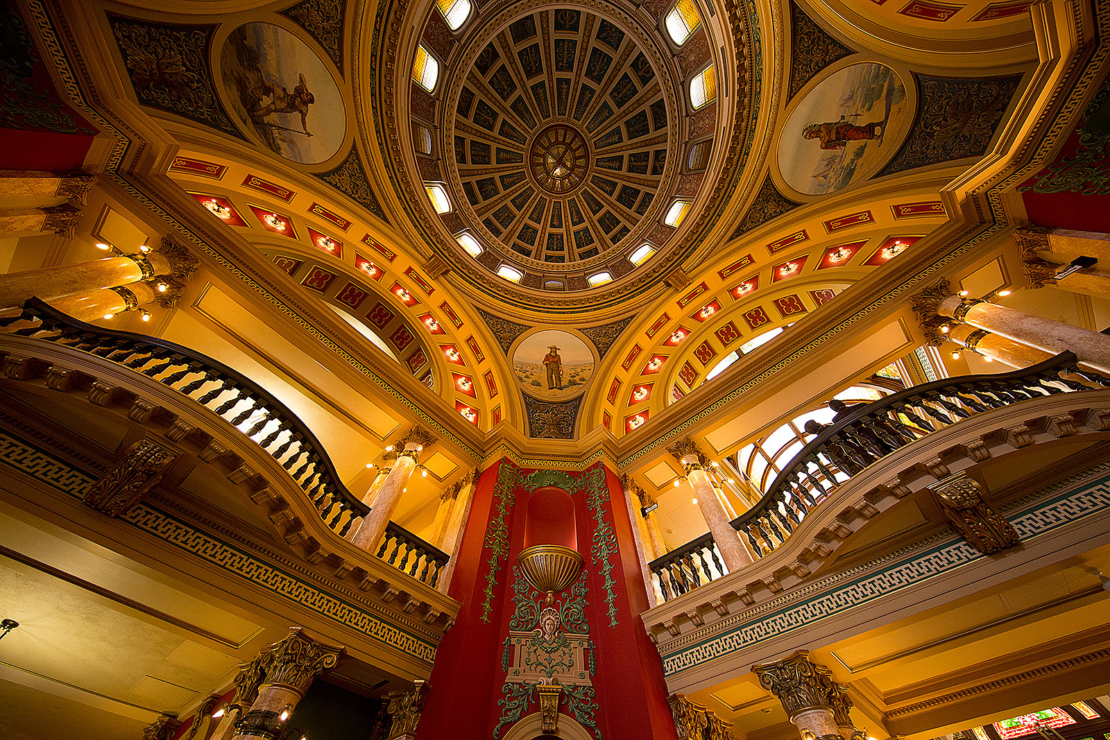 Interior of the dome of the Montana state capitol building in Helena.