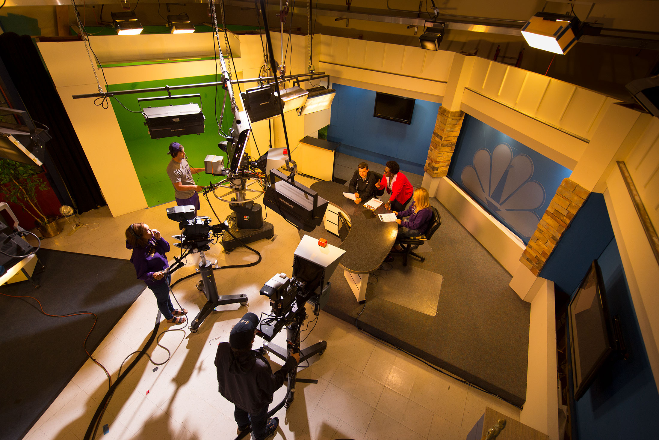 Image of Students at work in Television Studio