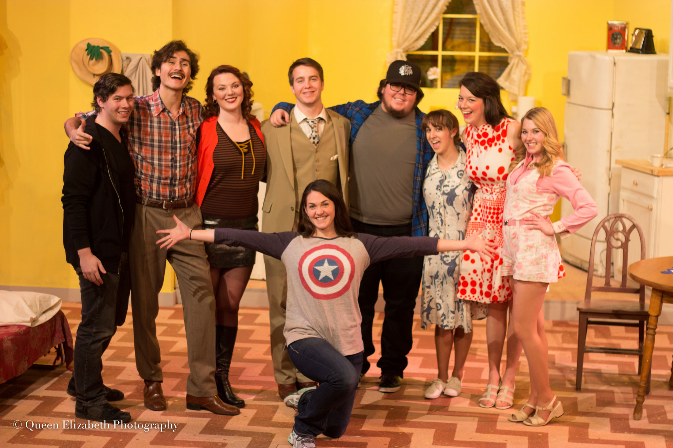 Image of Carroll College Theatre student actors and actresses on stage