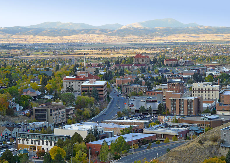 Image of Helena, Montana from above