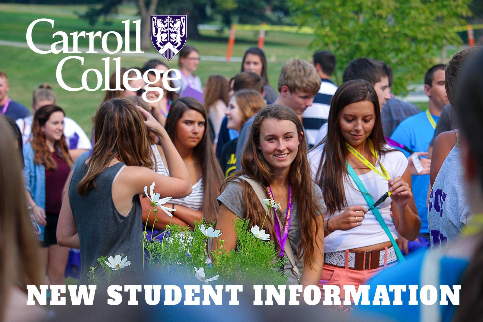 We welcome new students to campus!