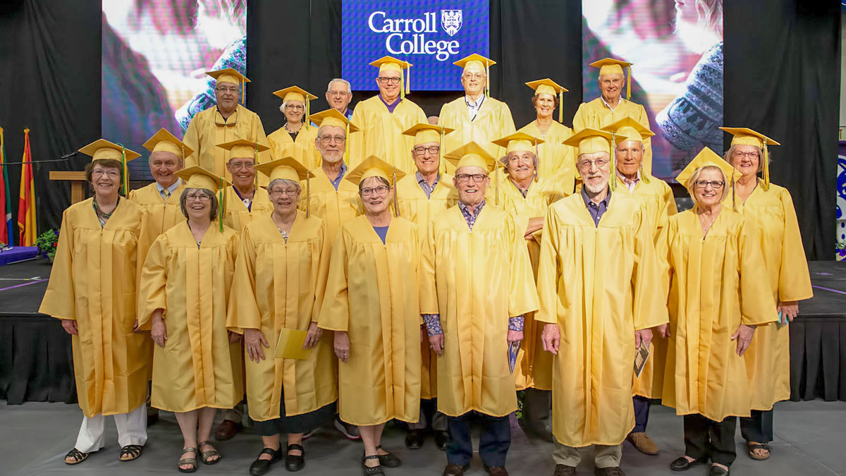 Our Golden Grads at the 2019 Commencement ceremony