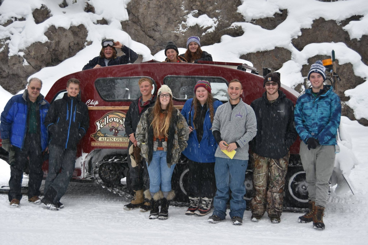 Students in Yellowstone