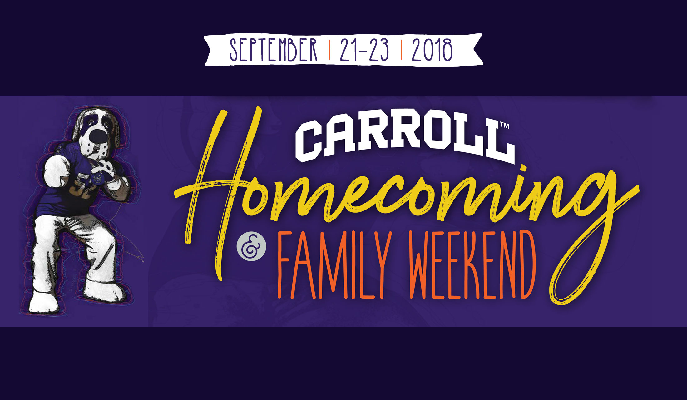 Graphic of Homecoming & Family Weekend