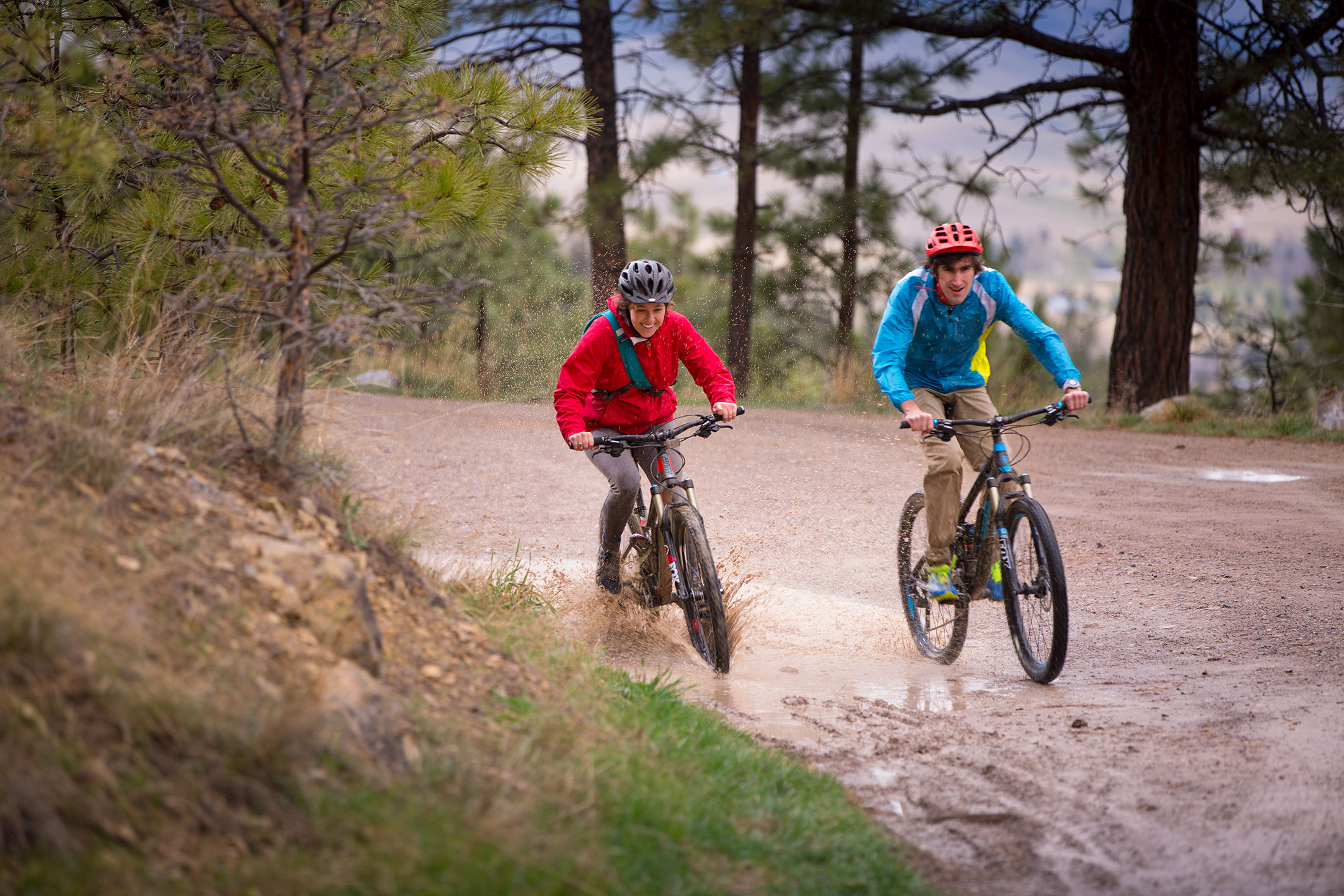 Image of Students on Mountain Bikes