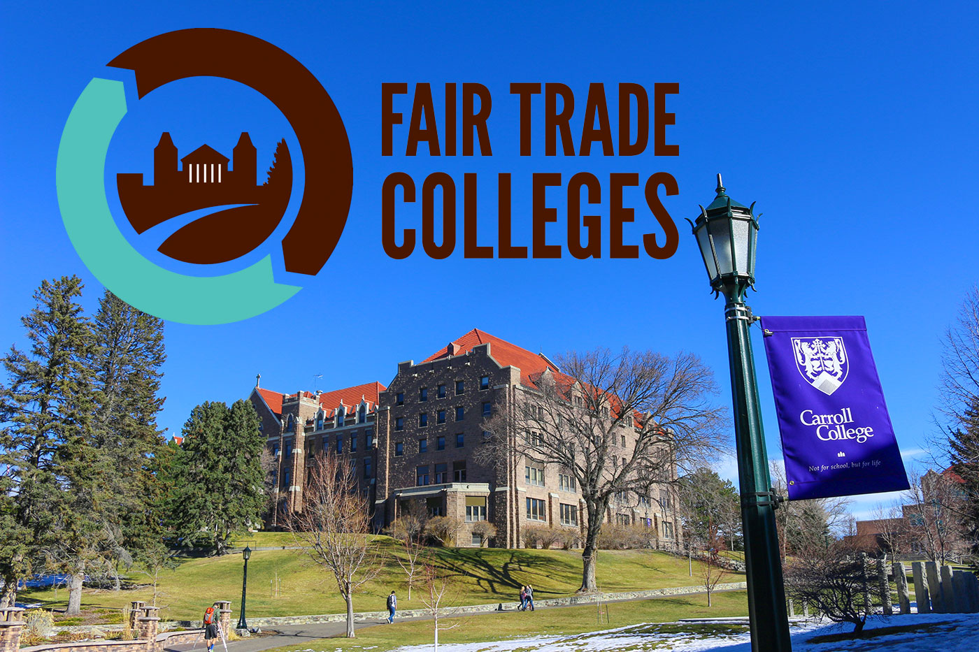 Fair Trade Colleges, Carroll College - View of St Charles in the fall