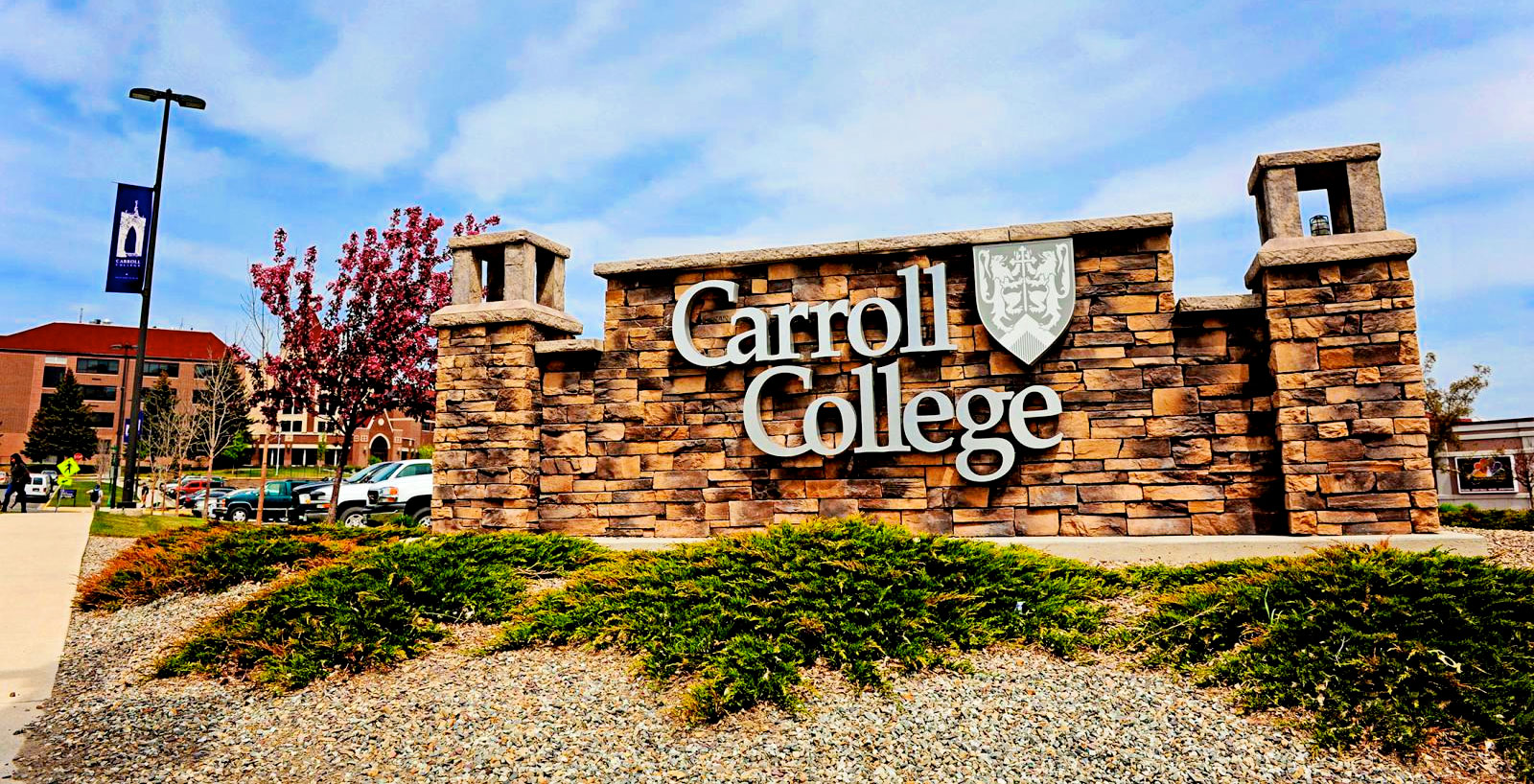 Carroll College sign