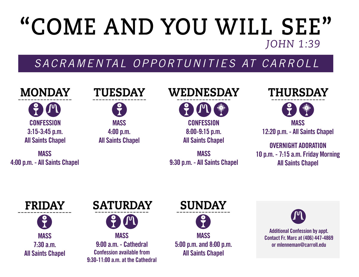 Sacramental Opportunites - Calendar Graphic