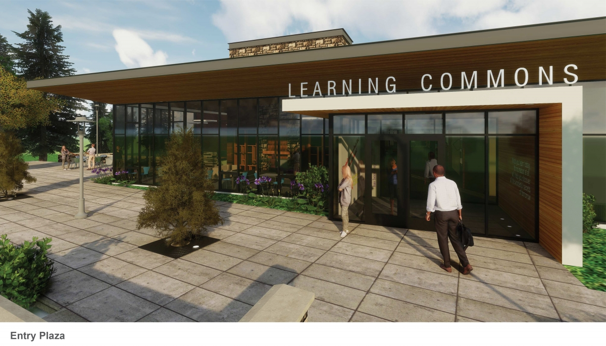 Photo of Exterior of Learning Commons
