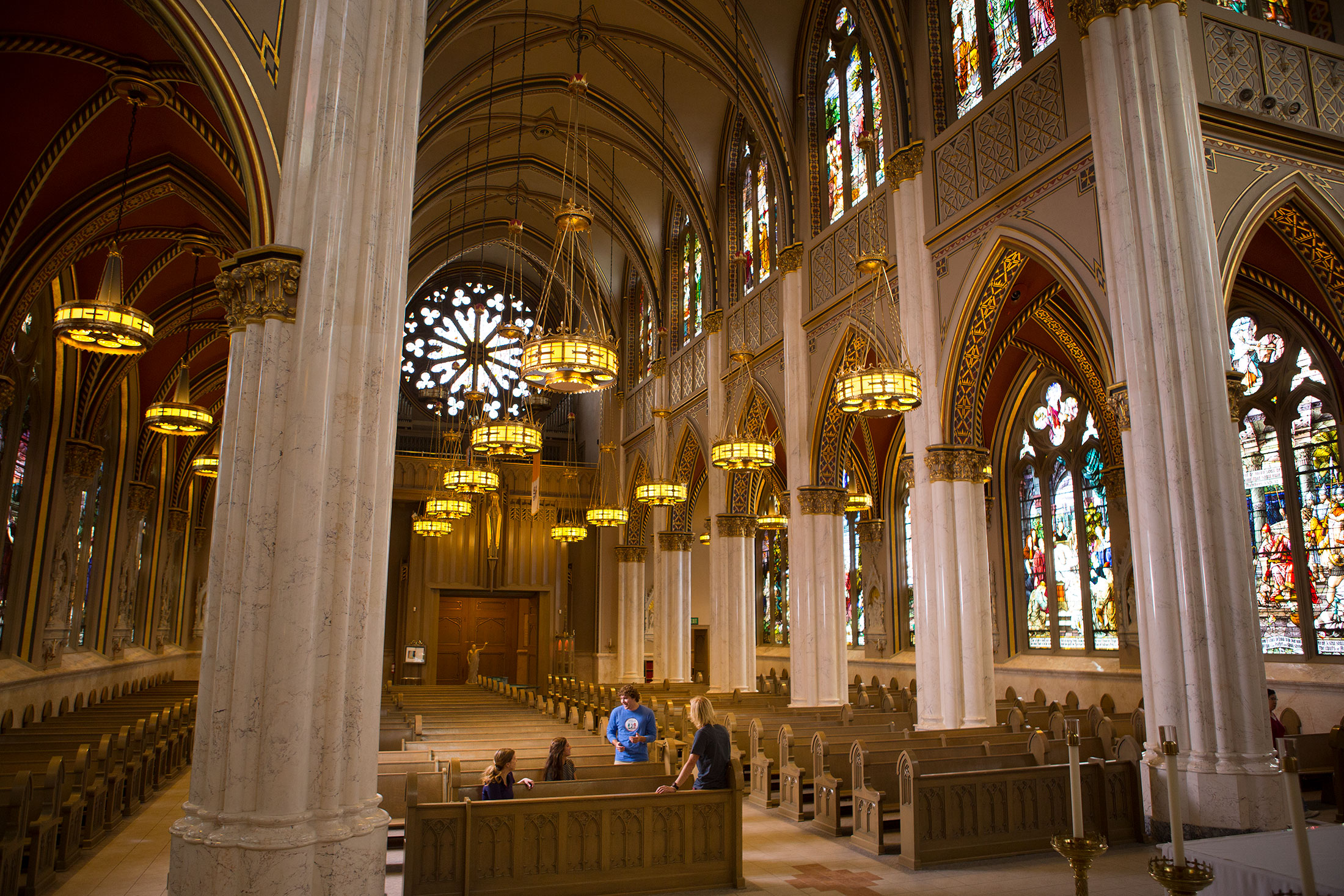Interior of the Cathedral of St. Helena in Helena, MT