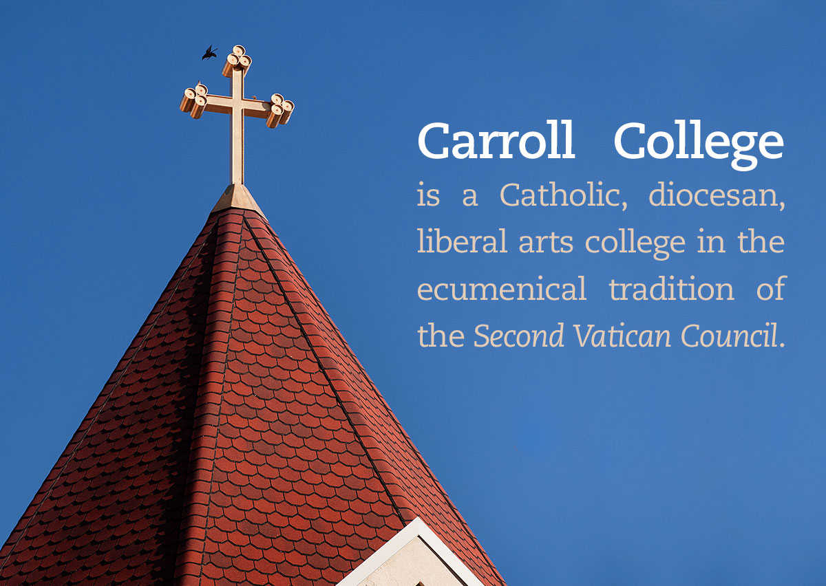 Carroll Mission and Catholic Identity - Rooftop with Crucifix