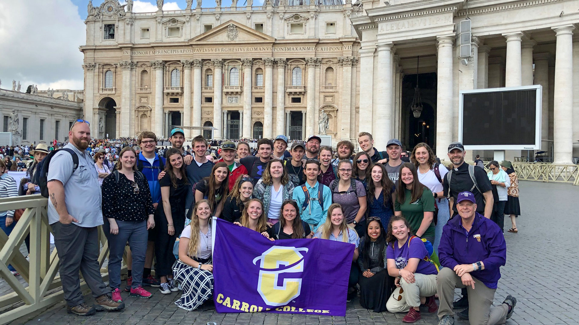 Carroll College group at the Vatican
