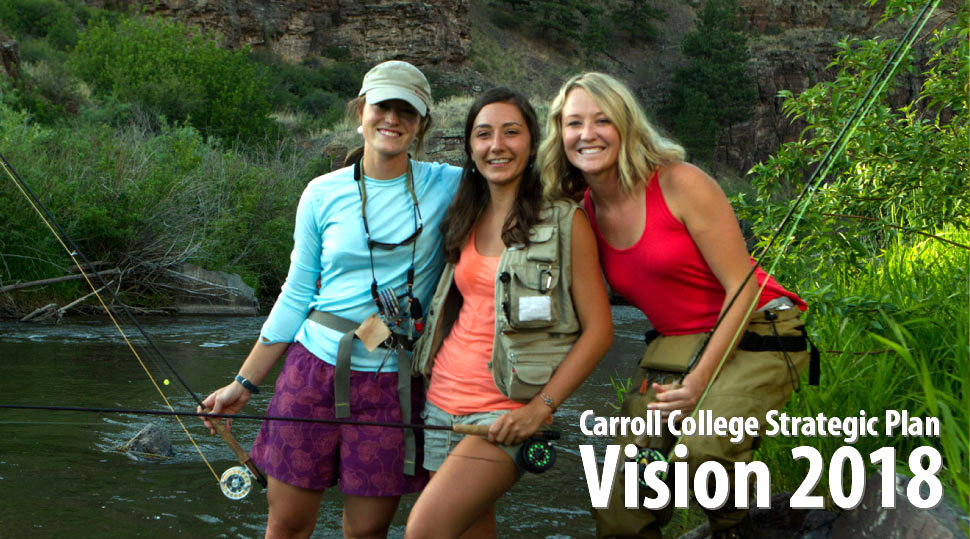 Carroll College Vision 2018 - Three students out fishing