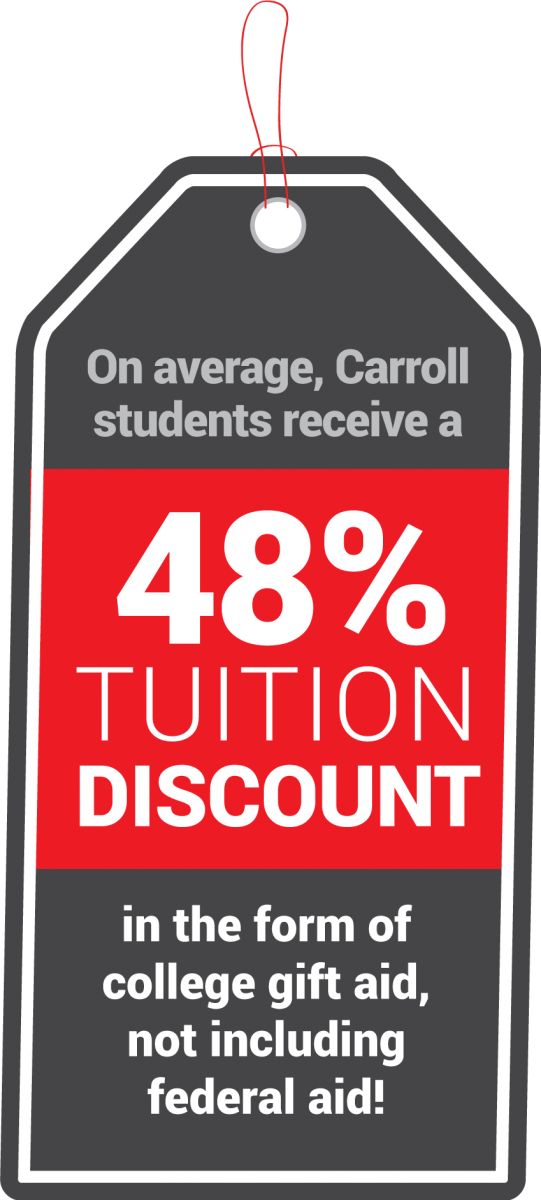Graphic of 48% Tuition Discount