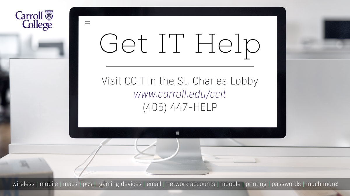 Carroll College Information Technology (CCIT) graphic
