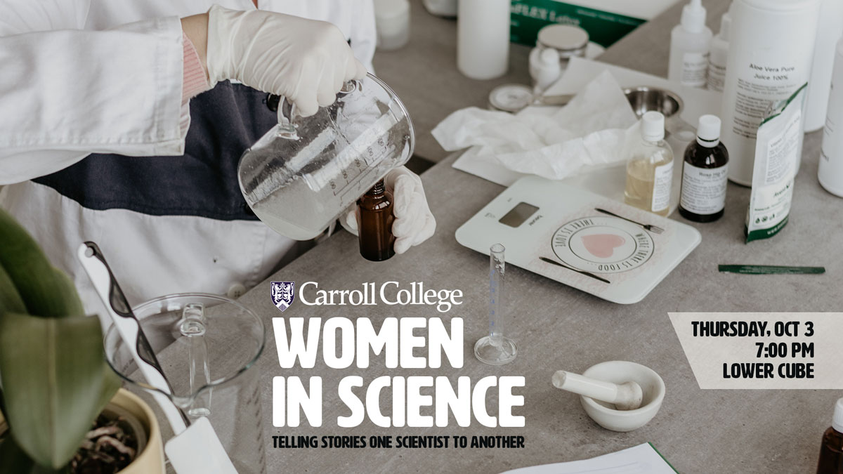 Carroll's Women in Science graphic