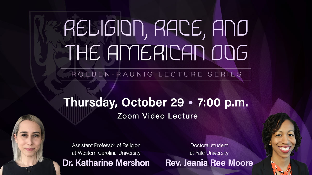Lecture: Religion, Race, and the American Dog graphic