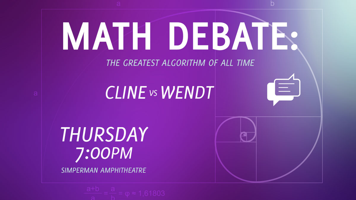 Math Debate: The Greatest Algorithm graphic