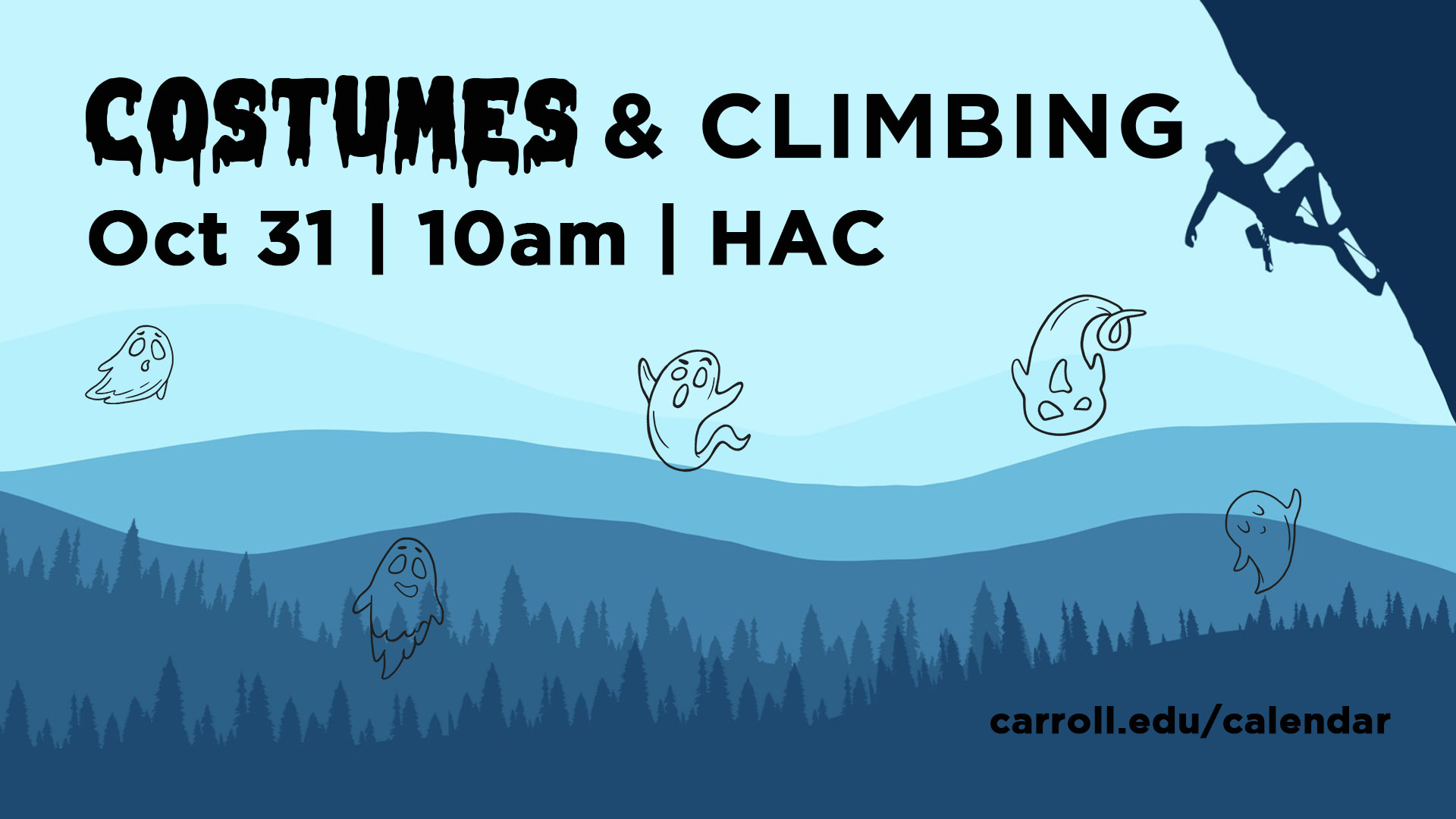 Costumes and Climbing Graphic