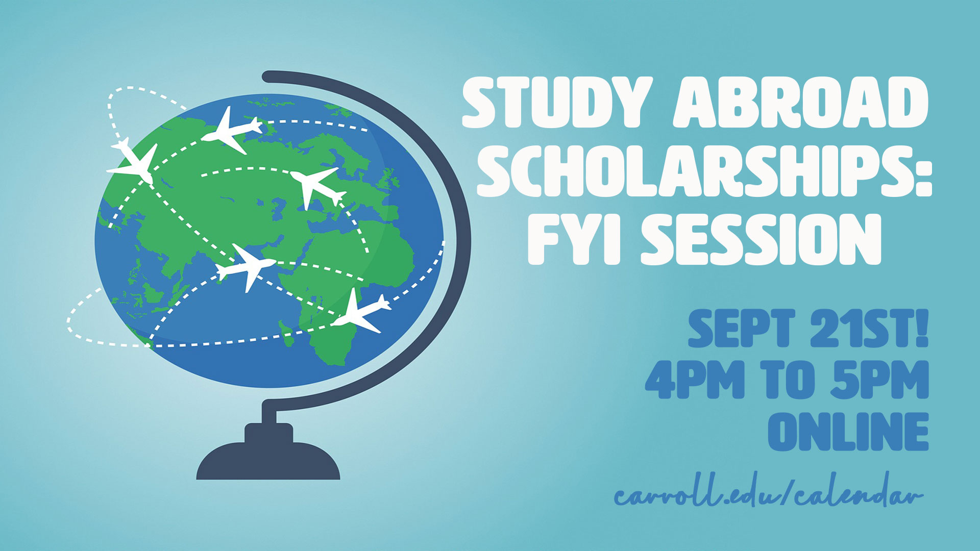 Study Abroad FYI Graphic