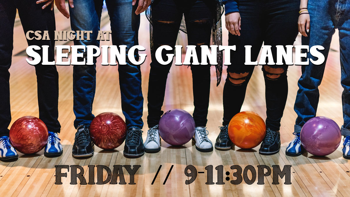 Bowling at Sleeping Giant Lanes graphic