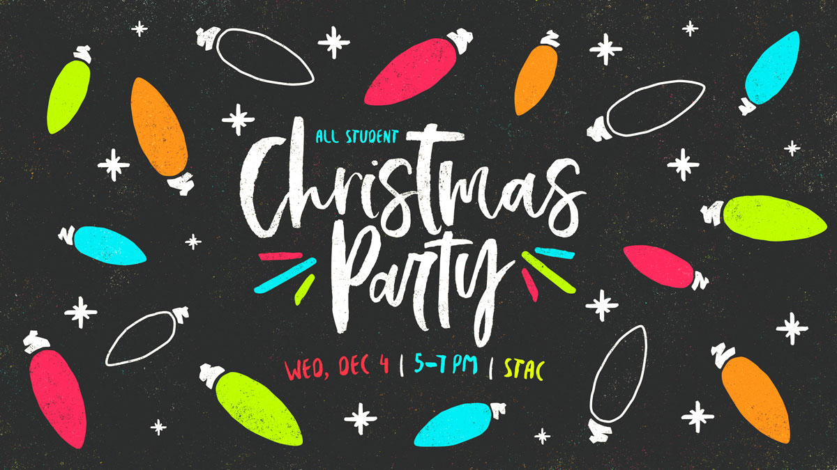 All Student Christmas Party graphic
