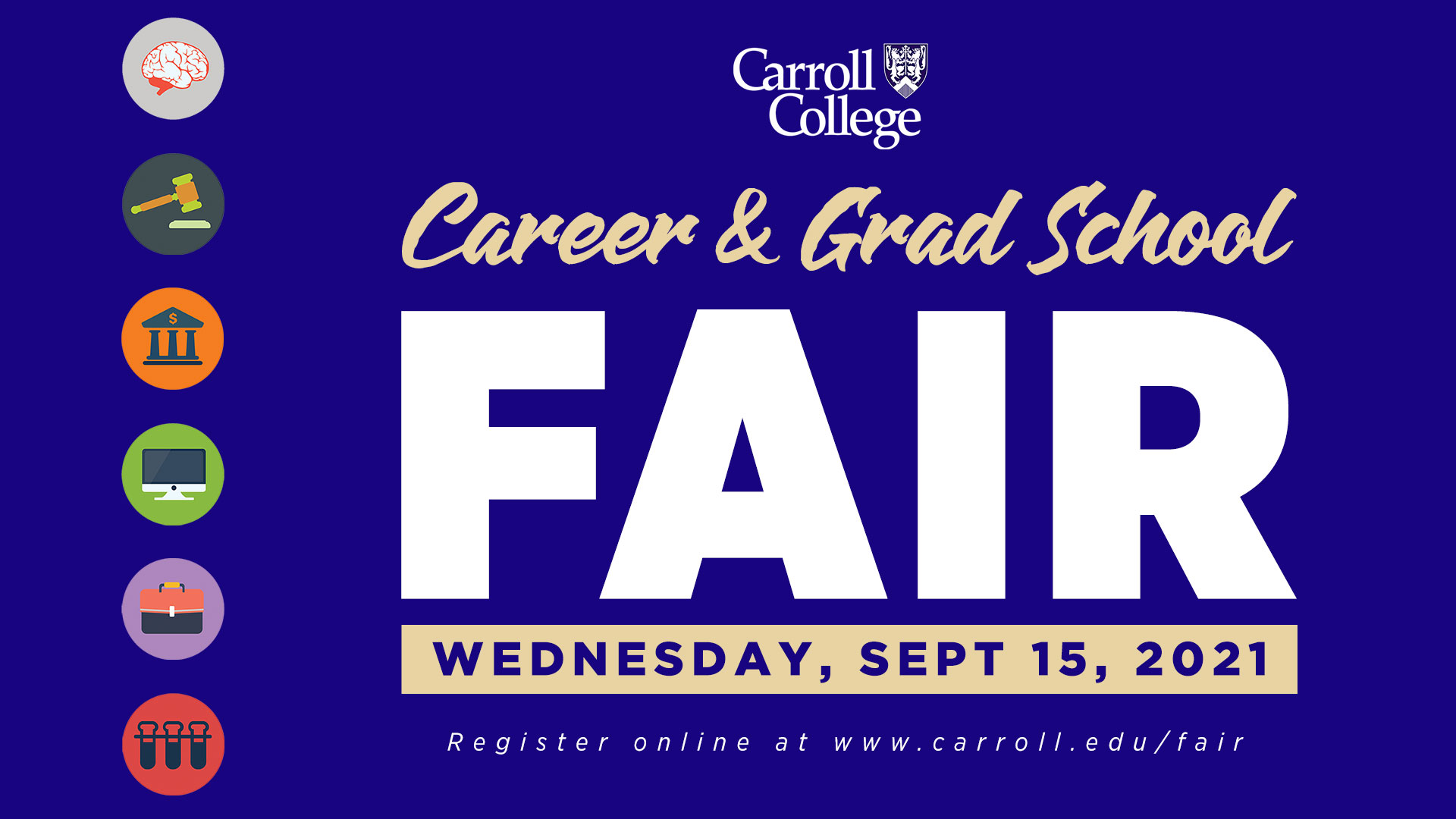 Career and Grad Fair Graphic