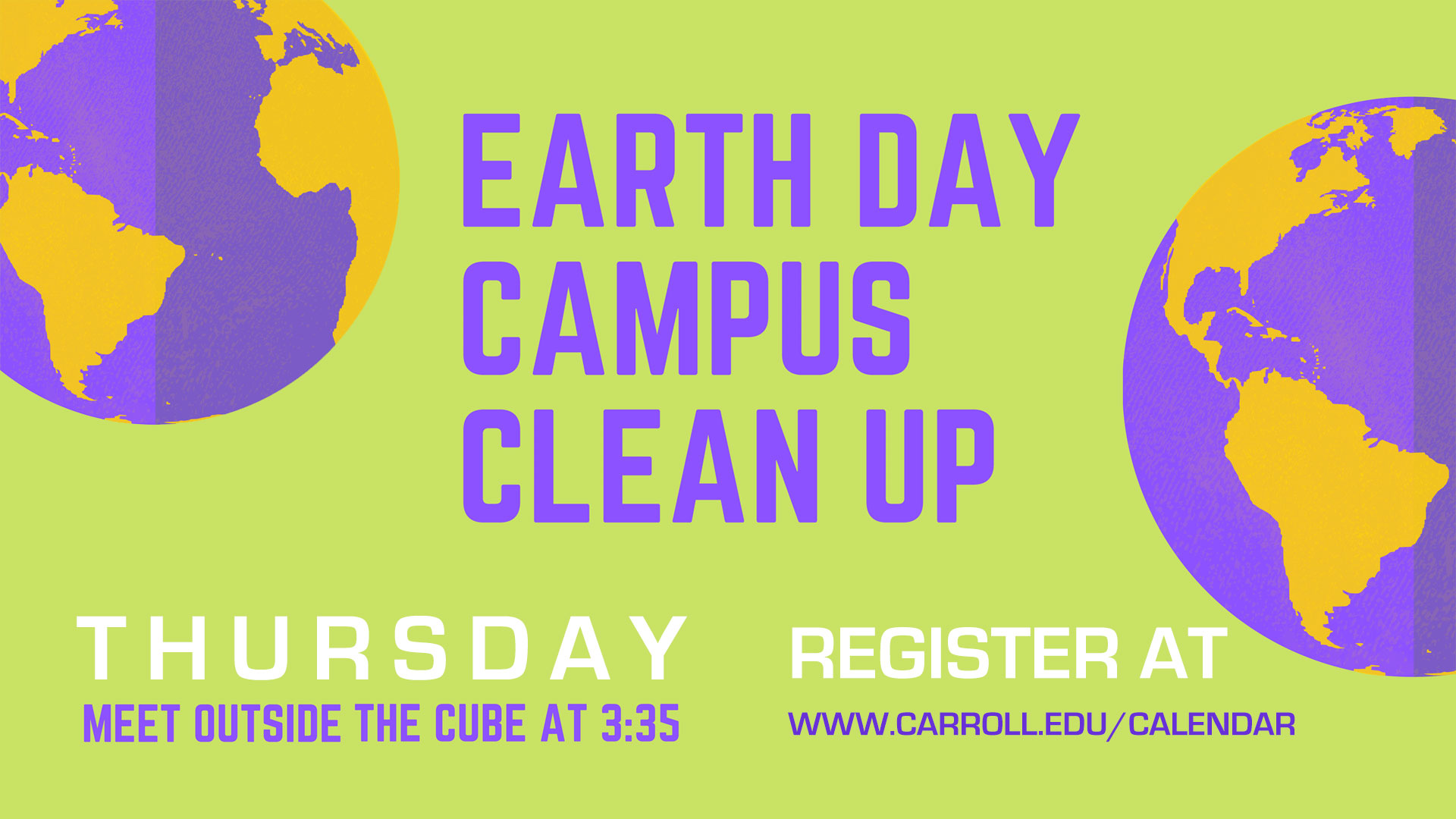 Earth Day Campus Cleanup graphic