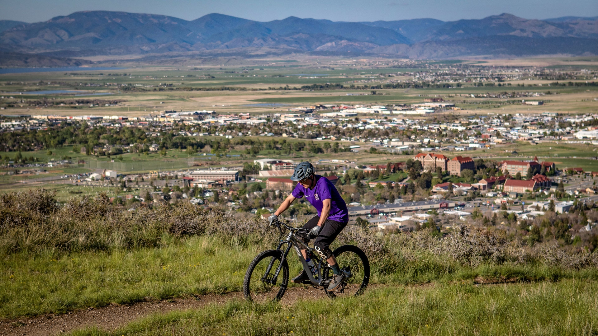 Mountain Biking on Mount Helena
