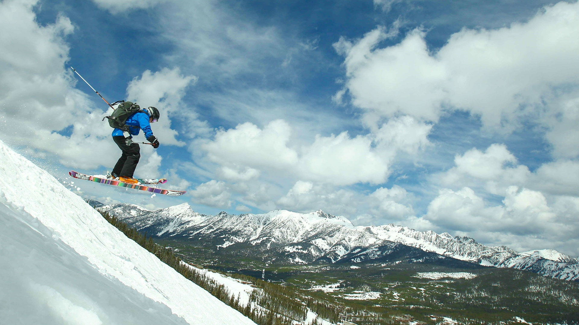 Skier at Great Divide