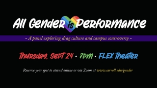 All Gender is Performance: Exploring Drag graphic
