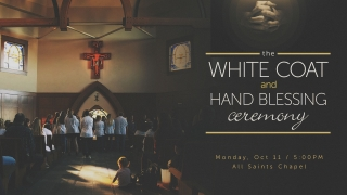 Nursing White Coat and Hand Blessing Ceremony graphic