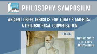 Philosophy Symposium: Ancient Insights for America graphic