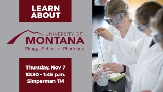 Pharmacy at the U of Montana graphic