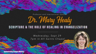 Speaker: Dr. Mary Healy graphic